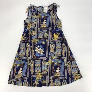 Vintage Disney Store Hawaiian Tiki Dress